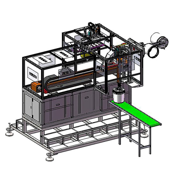 Side entry IML internal labeling system