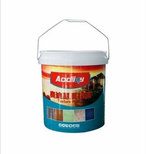 Internal labeling of plastic bucket IML